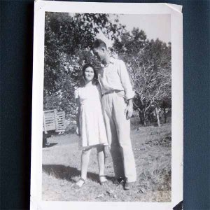 Vintage Black and White Photo Man and Woman c1940s  (PH006)