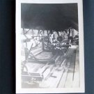 Vintage Black and White Photo Inside a Sawmill or Lumberyard c1940s (PH003)