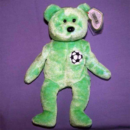 Kicks the Soccer Bear Ty Beanie Baby MWMT