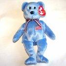 America Blue Bear Ty Beanie Baby MWMT