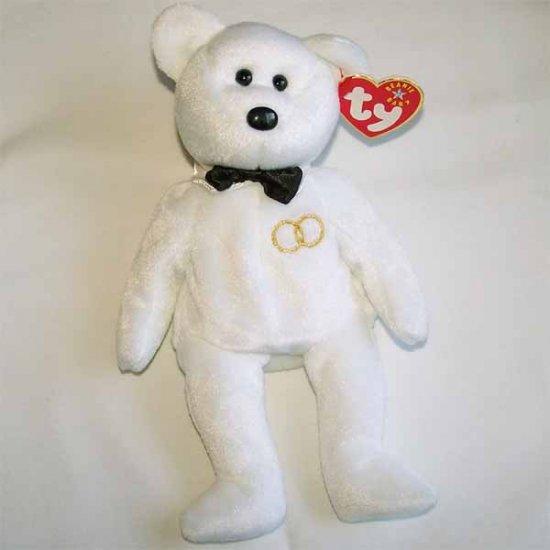 Mr. the Groom Bear Ty Beanie Baby MWMT