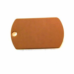 5 Blank Engravable ID Tags Gold Plated Stainless Steel (DT-1)