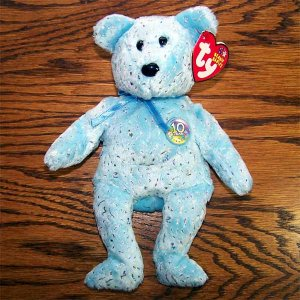 Blue Decade the Bear Ty Beanie Baby MWMT