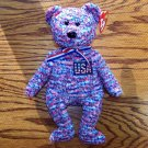 U.S.A. the American Bear Ty Beanie Baby (USA Exclusive) MWMT
