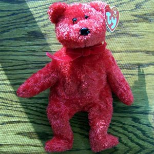Sizzle the Bear Ty Beanie Baby MWMT