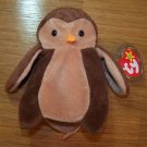 Hoot the Owl Ty Beanie Baby MWMT