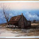 The Old Home Place Lithograph - Autographed by Artist Huey J. Theus