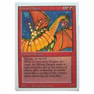 Shivan Dragon - Revised - Magic the Gathering Role Playing Single Card (MGT8)