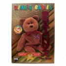 Britannia the Bear Magenta Birthday Ty Beanie Baby Single Card Series 3 (BB5)