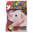 Squealer the Pig Beanie Buddies Magenta Ty Beanie Baby Single Card Series 3 (BB15)