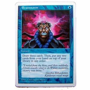 Brainstorm - 5th Edition - Magic the Gathering Role Playing Single Card (MGT24)