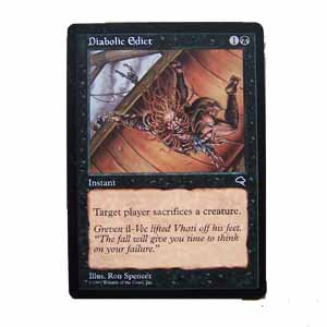Diabolic Edict - Tempest - Magic the Gathering Role Playing Single Card (MTG67)