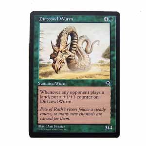 Dirtcowl Wurm - Tempest - Magic the Gathering Role Playing Single Card (MTG68)