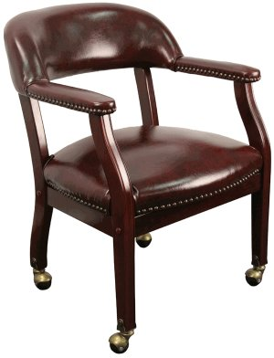 Executive Style Poker Table Chair - Maroon