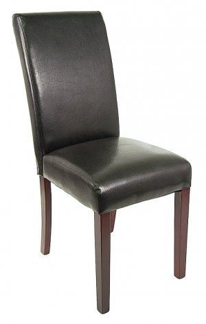 Dining Style Poker Table Chair - Black
