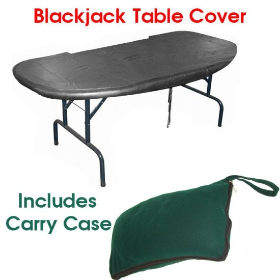 """Black Jack Table Cover - 72"""""""