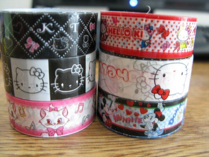 Deco Tape Set 6 San-x Marie Disney Hello Kitty