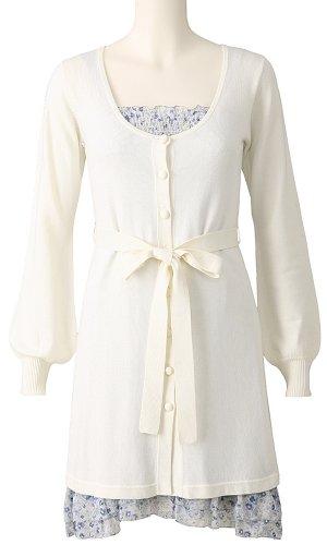 Long Sleeve 2 piece knitted Dress