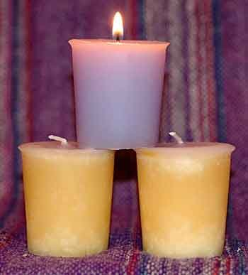 Handcrafted Scented Essential Oil Votive ~ Frankincense and Myrrh