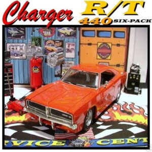 1969 DODGE CHARGER 440 R/T GARAGE W/ DIE CAST TOOLS++++