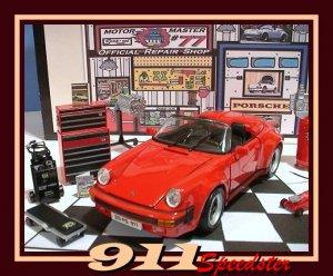 1989 PORSCHE 911 SPEEDSTER GARAGE W/ DIE CAST TOOLS & MORE