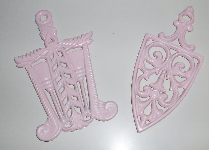 Vintage Shabby Pink Chic Trivets (2)