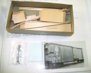 Quality Craft Models  HOn3 Scale  East Broadtop Double Sheathed Box Car Kit  #324 BrassTrainsAndMore