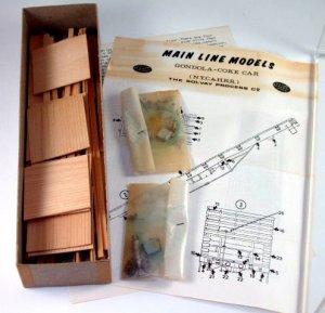 Main Line Model  0 gauge  Two(2) Car Combined Kit W/Original Box|BrassTrainsAndMore