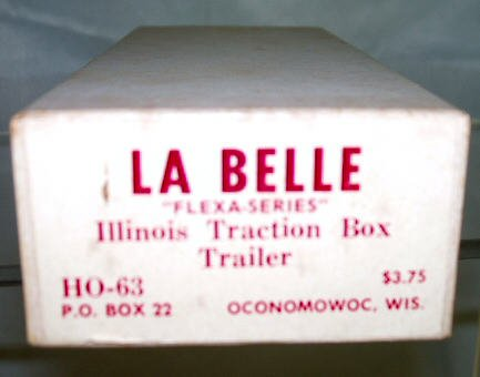 LaBelle Vintage HO  Illinois Box Trailer Kit  HO-63  W/Original Box BrassTrainsAndMore