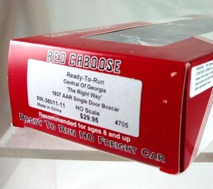 Red Caboose  HO Scale  Central of Georiga  Boxcar # 4705|BrassTrainsAndMore