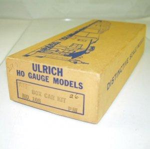 Ulrich Model  HO Scale  PM  Boxcar Kit #89920 W/Early Box BrassTrainsAndMore