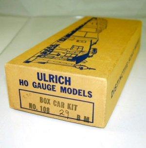 Ulrich Model  HO Scale  MTC  Boxcar Kit #71984W/Early Box|BrassTrainsAndMore