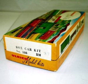 Ulrich Model  HO Scale  B&M  Boxcar Kit #72183 w/ Box BrassTrainsAndMore