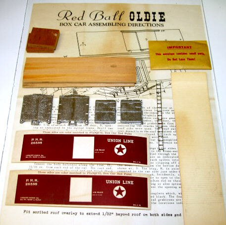 "Red Ball  HO Scale  PRR ""Union Line"" Boxcar Kit #77 w/Box