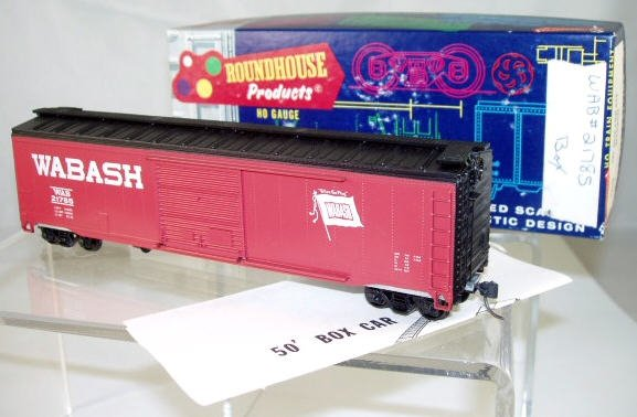 Roundhouse  HO Scale  Wabash  50FT.  AAR  Box Car#WAB21785