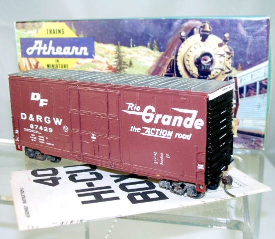 Athearn  HO Scale  40 FT.  D&RGW  Hi-Cube Box Car#67429