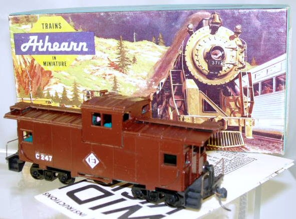 Athearn  HO Scale  EL  29FT.  Wide Vision Caboose#C247