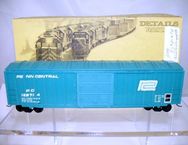 Details West  HO Scale  PC  50FT. Rib-Side Single-Door Box Car#PC156714
