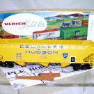 Ulrich  HO Scale  D&H(Custom)  40FT.  Automatic Triple Bay Open Top Hopper#D&H5123