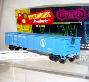 Roundhouse HO Scale  Great Northern  40Ft. Flat-End Gondola#72523