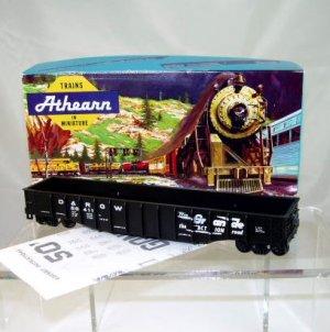 Athearn Bev-Bel HO Scale  D&RGW  50Ft. Open Top Work Train Gondola Kit#56411