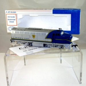 E-R Models HO Scale  Delaware&Hudson  Sharknose RF-16 A Unit#1205 Powered NIB