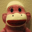 "Sock Monkey Maxx 18"" Red Stripes New"