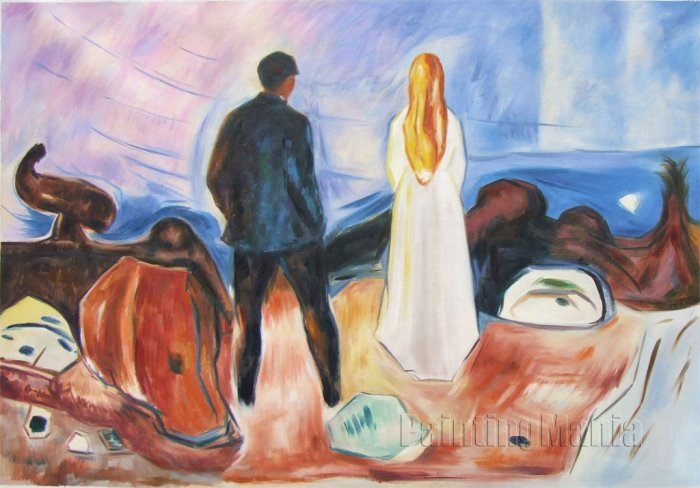 Edvard Munch The Lonely Ones hand painted oil painting on canvas