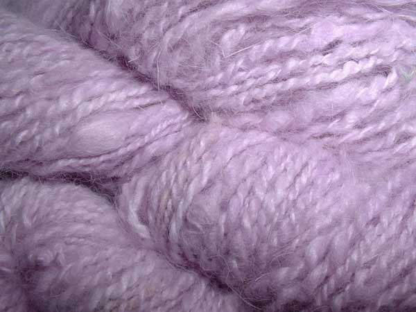 Pale lavender 100 percent angora rabbit fur yarn