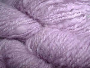 Pale lavender 100 percent angora rabbit fur yarn