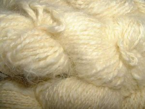 Pale yellow angora rabbit fur yarn