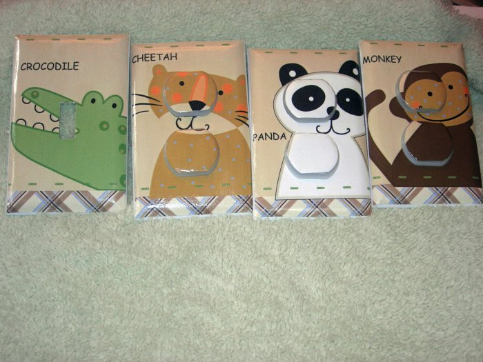 Light switch covers m/w Day at the zoo nojo