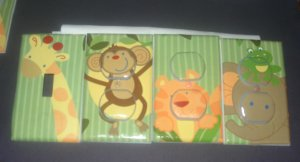 light switch covers m/w NOJO JUNGLE BABIES