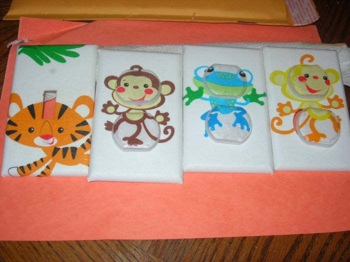 LIGHT SWITCH COVERS M/W FISHER PRICE RAINFOREST